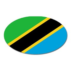 Flag Of Tanzania Oval Magnet