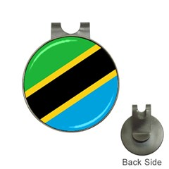 Flag Of Tanzania Hat Clips With Golf Markers
