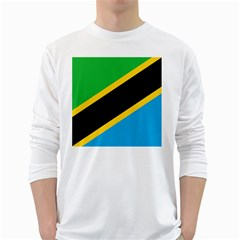 Flag Of Tanzania White Long Sleeve T Shirts