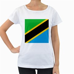 Flag Of Tanzania Women s Loose Fit T Shirt (white)
