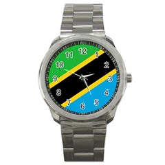 Flag Of Tanzania Sport Metal Watch