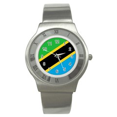 Flag Of Tanzania Stainless Steel Watch