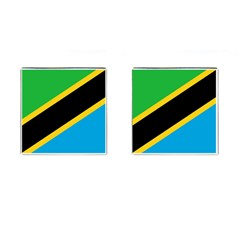 Flag Of Tanzania Cufflinks (square)