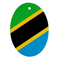 Flag Of Tanzania Oval Ornament (two Sides)