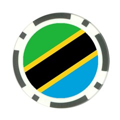 Flag Of Tanzania Poker Chip Card Guard (10 Pack)