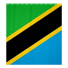 Flag Of Tanzania Shower Curtain 66  X 72  (large)