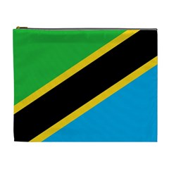 Flag Of Tanzania Cosmetic Bag (xl)
