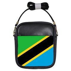 Flag Of Tanzania Girls Sling Bags