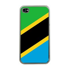 Flag Of Tanzania Apple Iphone 4 Case (clear)