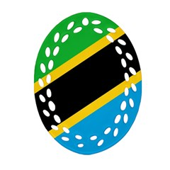 Flag Of Tanzania Ornament (oval Filigree)