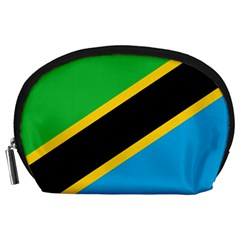 Flag Of Tanzania Accessory Pouches (large)