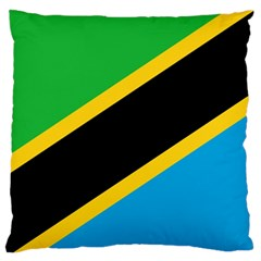 Flag Of Tanzania Large Flano Cushion Case (one Side)