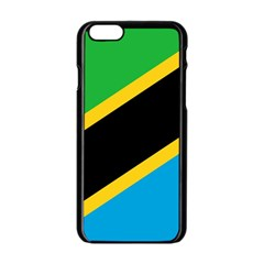 Flag Of Tanzania Apple Iphone 6/6s Black Enamel Case