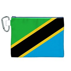 Flag Of Tanzania Canvas Cosmetic Bag (xl)