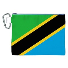Flag Of Tanzania Canvas Cosmetic Bag (xxl)