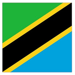 Flag Of Tanzania Large Satin Scarf (square)
