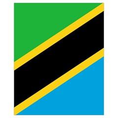 Flag Of Tanzania Drawstring Bag (small)