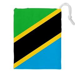 Flag Of Tanzania Drawstring Pouches (xxl)