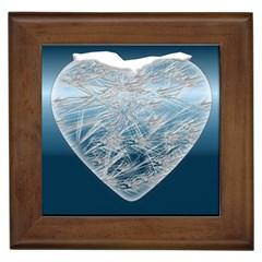 Frozen Heart Framed Tiles