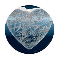 Frozen Heart Ornament (round)