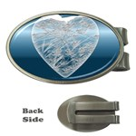 Frozen Heart Money Clips (Oval)  Front