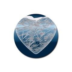 Frozen Heart Rubber Coaster (round)