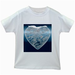 Frozen Heart Kids White T Shirts