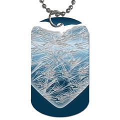 Frozen Heart Dog Tag (one Side)