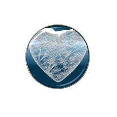 Frozen Heart Hat Clip Ball Marker