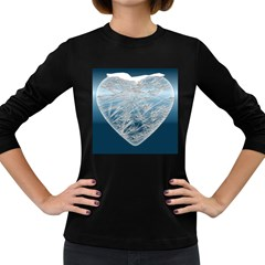 Frozen Heart Women s Long Sleeve Dark T Shirts