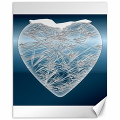 Frozen Heart Canvas 11  X 14