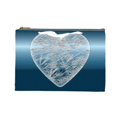 Frozen Heart Cosmetic Bag (large)