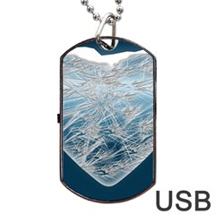 Frozen Heart Dog Tag Usb Flash (two Sides)