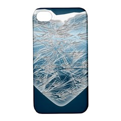 Frozen Heart Apple Iphone 4/4s Hardshell Case With Stand