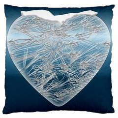 Frozen Heart Standard Flano Cushion Case (one Side)