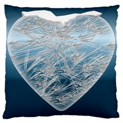 Frozen Heart Large Flano Cushion Case (two Sides)