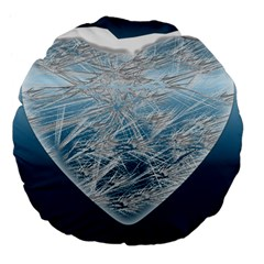 Frozen Heart Large 18  Premium Flano Round Cushions