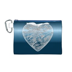 Frozen Heart Canvas Cosmetic Bag (m)