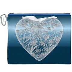 Frozen Heart Canvas Cosmetic Bag (xxxl)