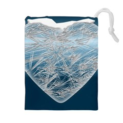 Frozen Heart Drawstring Pouches (extra Large)