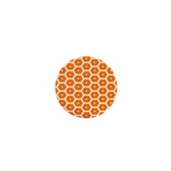 Golden Be Hive Pattern 1  Mini Buttons