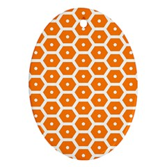Golden Be Hive Pattern Ornament (oval)