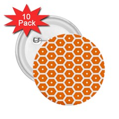 Golden Be Hive Pattern 2.25  Buttons (10 pack)