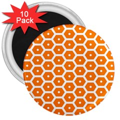 Golden Be Hive Pattern 3  Magnets (10 Pack)