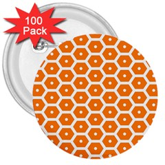 Golden Be Hive Pattern 3  Buttons (100 Pack)