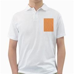 Golden Be Hive Pattern Golf Shirts