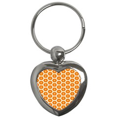 Golden Be Hive Pattern Key Chains (heart)