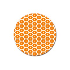 Golden Be Hive Pattern Magnet 3  (round)