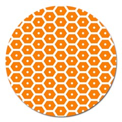 Golden Be Hive Pattern Magnet 5  (round)