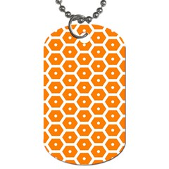 Golden Be Hive Pattern Dog Tag (one Side)